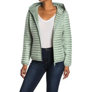 SAVE THE DUCK Green IRIS Hooded Puffer Jacket